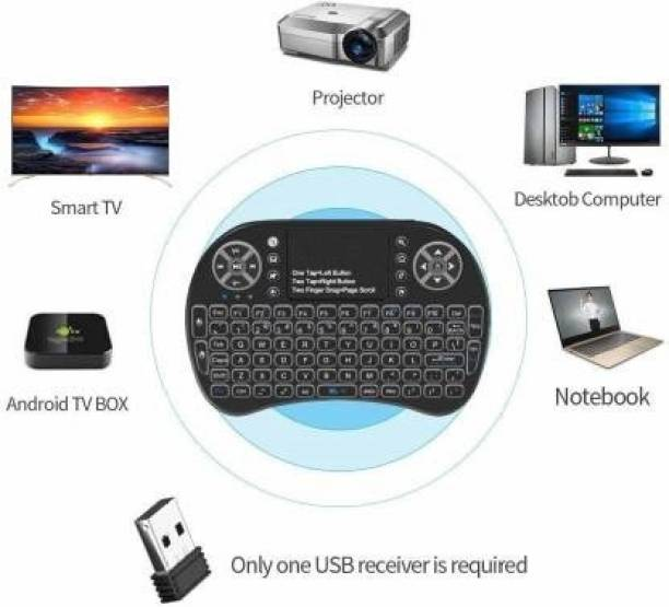 OSNA Wireless Mini Keyboard with Touchpad Black Bluetooth Tablet Keyboard (Black) Wireless Multi-device Keyboard Bluetooth Tablet Keyboard
