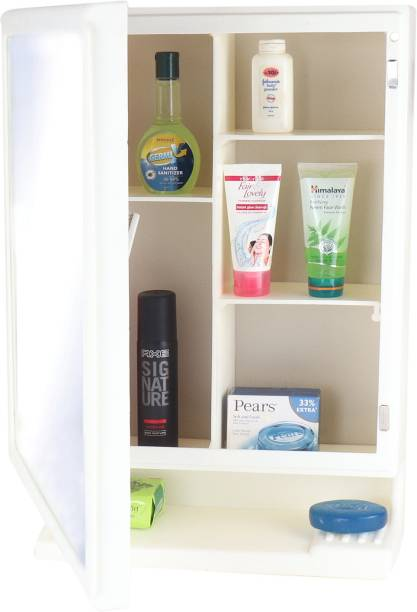 CIPLA PLAST New Look Plastic Multipurpose Cabinet-Ivory- Polypropylene Wall Shelf
