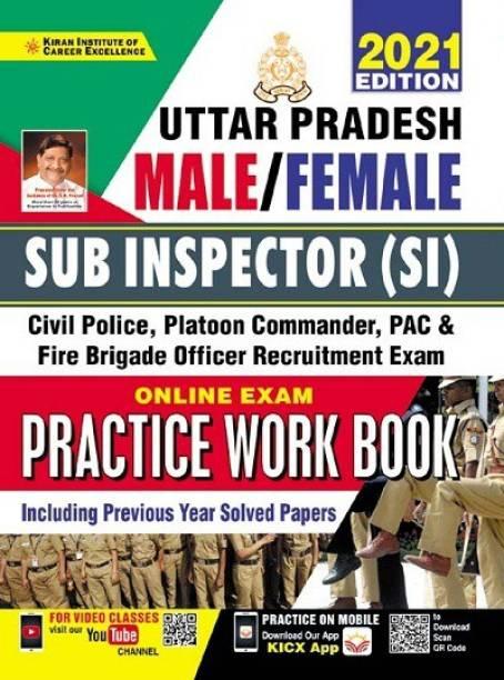 Kiran Uttar Pradesh Male Female Sub Inspector (SI) Online Exam Practice Work Book (English Medium) (3442)
