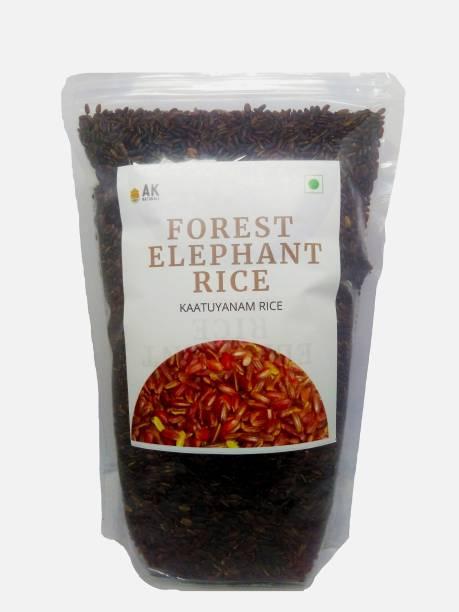 AK NATURALS Forest Elephant Rice Brown Kattuyanam Rice (Long Grain, Unpolished)