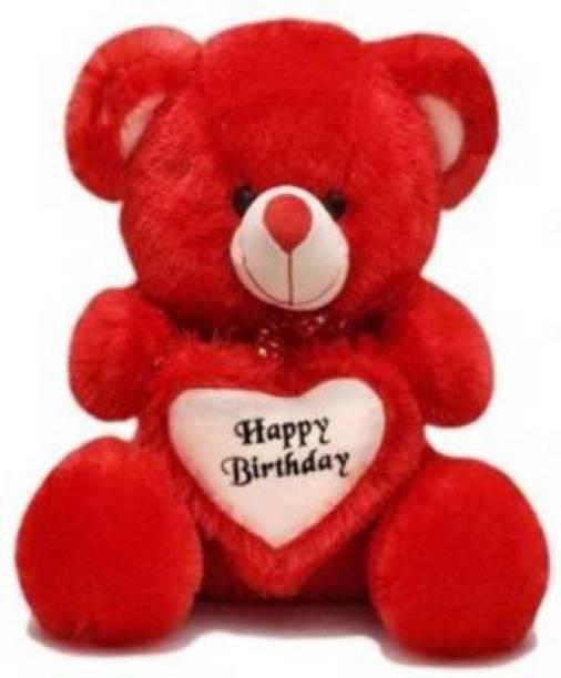 TOYS LOVER Soft Teddy Bear Birthday Gift For Girlfriend/Wife Happy Birthday Teddy Soft Toy 2 Feet Long Colors Red  - 60 cm