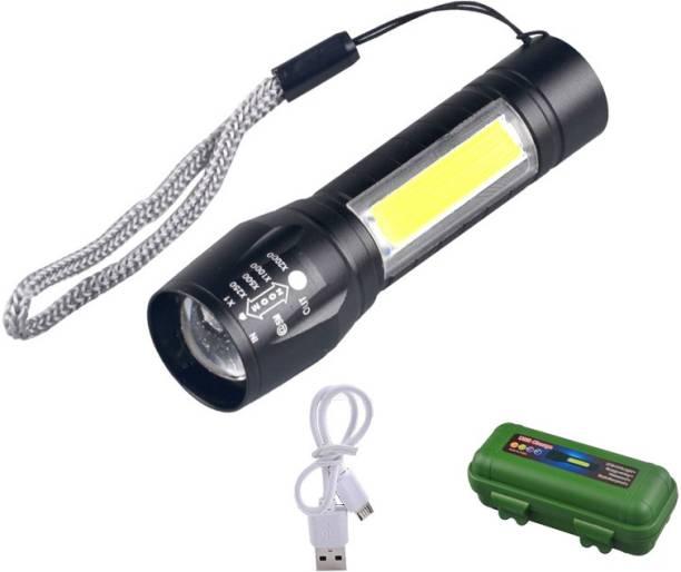 JK Sales 3W Super Bright XPE COB LED Zoom Aluminium Mini Flashlight Waterproof USB Rechargeable Powerful Torch Torch