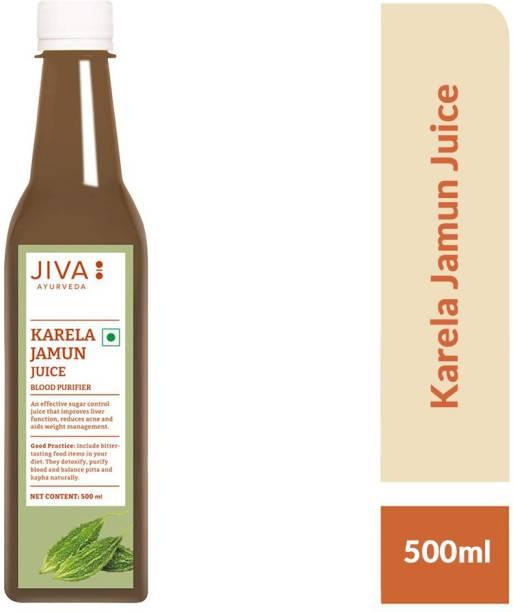 Jiva Karela Jamun Juice - Natural Blood Purifier - 500 ml - Pack of 1