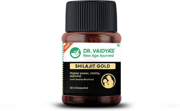Dr. Vaidya's Shilajit gold - Ayurvedic Power Capsule for Men with Shilajit and Gold - Pack of 1