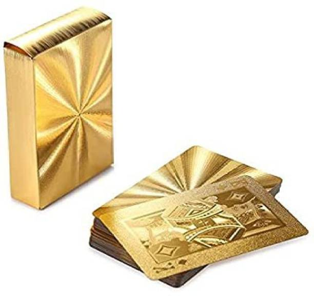 cartify Gold Card Gold Plated Playing Cards (Golden), Premium Look Cards, Shiny Premium Playing Cards, Best Cards for Party, Most Premium Looking Cards