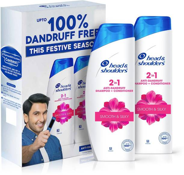 HEAD & SHOULDERS 2 in 1 Anti Dandruff Shampoo+Conditioner Smooth & Silky - Ranveer Singh Special Edition Pack