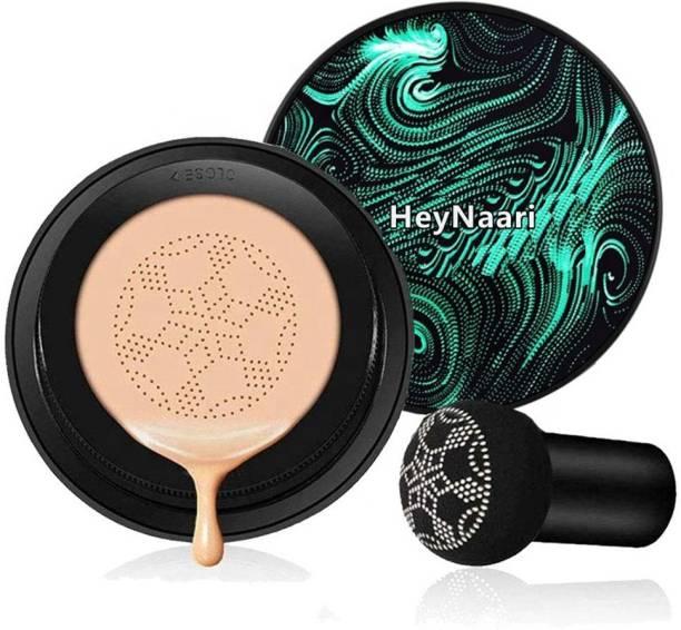 HeyNaari Air Cushion CC Cream Moisturizing Concealer Mushroom Head Brush Waterproof Makeup Foundation Moisture BB Cream for Women (Pack Of 1) Compact