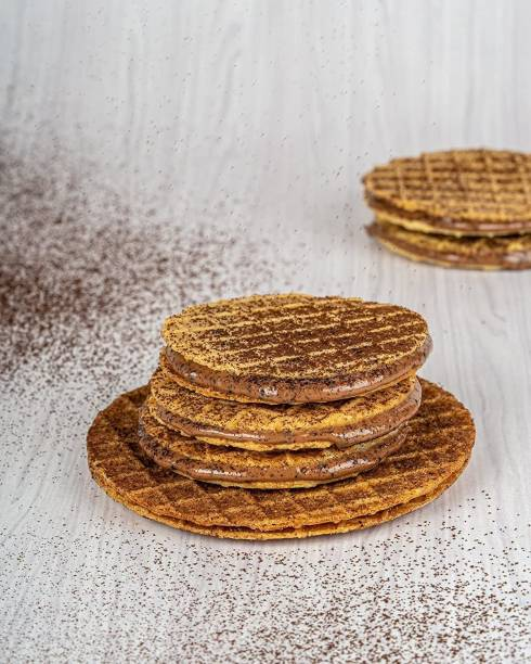 Waffle House Mini Cookies - Choco Coffee, 100% Vegetarian, Eggless, with no preservatives and no artificial colors, Freshly Baked-Pack of 12 Pieces 150 gm Cookies