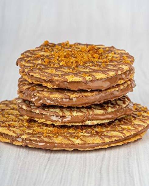 Waffle House Mini Waffle Cookies - Butterscotch, 100% Vegetarian, Fresh & Homemade, No Preservatives or Chemicals- (Box of 12) 160 gm Cookies