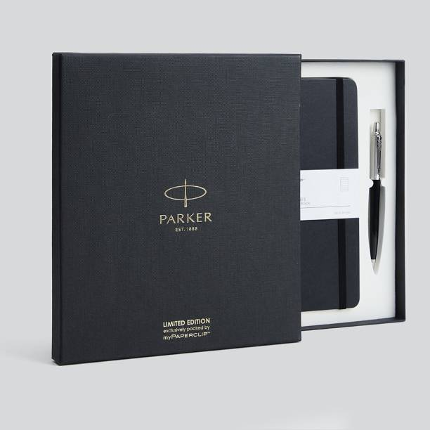 PARKER Jotter Ball Pen Gift Set with myPAPERCLIP A5 Diary Single Rule 192 Pages