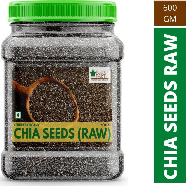 Bliss of Earth 600GM Certified Organic Chia Seeds Weight Loss, Raw Super Food