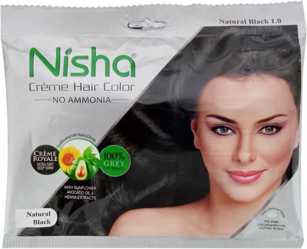 Nisha Creme , Natural Black 1.0
