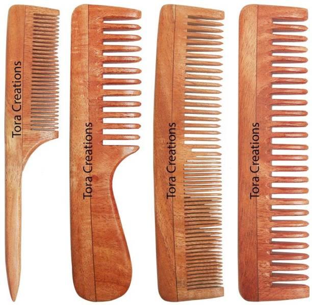Tora Creations Neem Wood Combo Set of 4 Anti-Bacterial  Anti-Allergic  Anti-Fungal