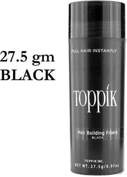 toppik Hair Styling Volumizers Fibers Black 27.5 gm Hair Styling Fibers Hair Volumizers ,Black ( 27.5 g ) Good Hair Volumizer Fibers