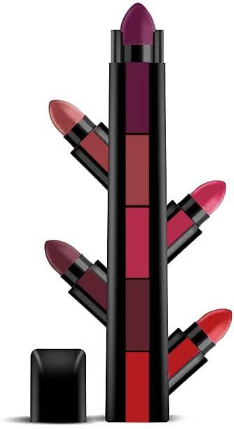 RONZILLE Fab 5 Step Lipstick 5 in 1 Lipstick Shade -B