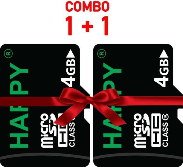 HAPPY MEMORIES 4GB 4 GB MicroSD Card Class 10 15 MB/s  Memory Card