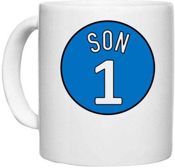 UDNAG White Ceramic Coffee / Tea 'Son   1 Son' Perfect for Gifting [330ml] Ceramic Coffee Mug