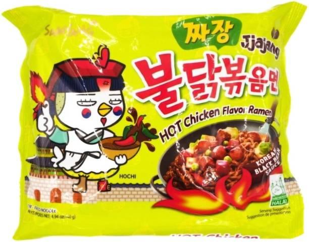 Samyang Buldak Hot Chicken Ramen Noodles Jjajang-140g Instant Noodles Non-vegetarian