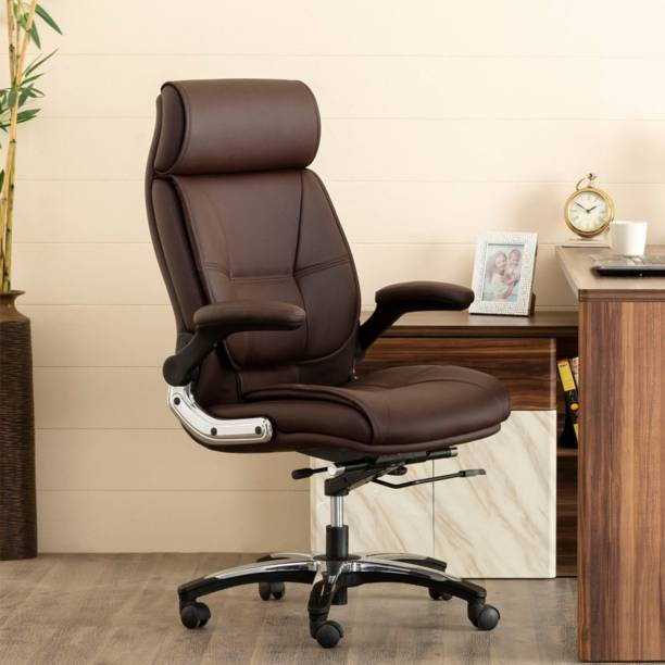 Oakcraft Leatherette Office Adjustable Arm Chair