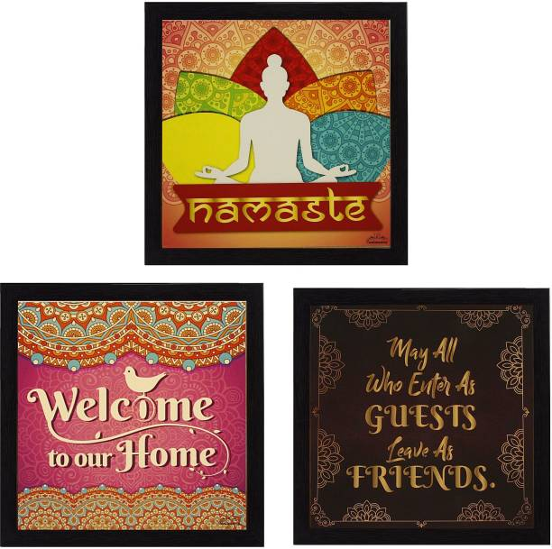 Indianara WELCOME HOME QUOTES Art Prints Indr1519 Digital Reprint 8.7 inch x 8.7 inch Painting