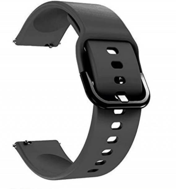 Amprar Silicone 20 mm Band Compatible with Samsung Galaxy Watch 3 41mm, Samsung Galaxy 42mm, Samsung Galaxy Active 40mm, Active 2 (40-44mm) / AmazeFit BIP/BIP Lite/AmazeFit GTS, Amazefit GTR (42mm) / VivoActive 3 / RealMe Classic, Fashion Watch & Smartwatch with 20mm Lugs Smart Watch Strap