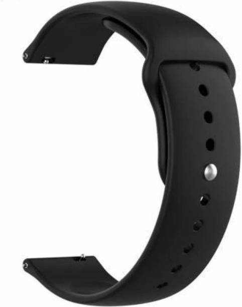 Amprar Soft Silicone 20 mm Band Compatible with Samsung Galaxy Watch 3 41mm, Samsung Galaxy 42mm, Samsung Galaxy Active 40mm, Active 2 (40-44mm) / AmazeFit BIP/BIP Lite/AmazeFit GTS, Amazefit GTR (42mm) / VivoActive 3 / RealMe Classic, Fashion Watch & Smartwatch with 20mm Lugs Smart Watch Strap