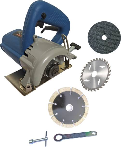 DUMDAAR 110mm Marble cutting machine Tile Stone Wood cutting machine with 1pc Marble 1pc Wood 1pc Metal Cutting blade set Handheld Tile Cutter