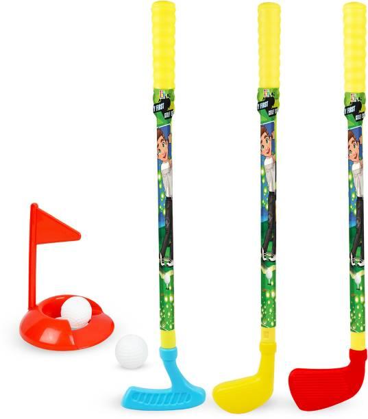Miss & Chief Golf Set for Kids with 3 Bats, Ball Golf Set