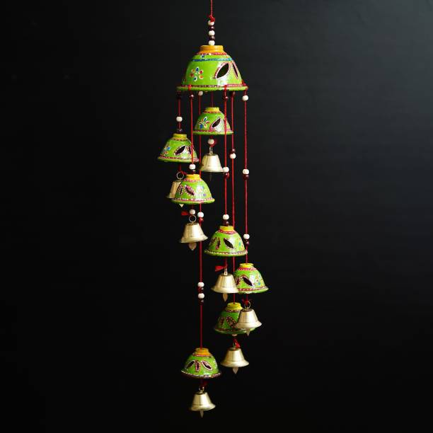 Brothers creation Beautiful Handmade Rajasthani Door Hanging Decorative Showpiece|Wind chimes home positive energy|wind chimes hanging wind bell for home decore balcony with good sound garden|wind chimes for home|home décor showpiece|Decorative items for room|handicraftitems|wall hanging decorative items|window decoration items| Plastic Windchime