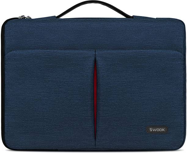 SwooK Laptop Sleeve Case 13 13.3-14 Inch Waterproof Computer Carrying Bag Compatible with MacBook Air/Pro HP/Dell/Asus/ThinkPad Notebook Protective Tablet Handle Laptop Bag Laptop Bag