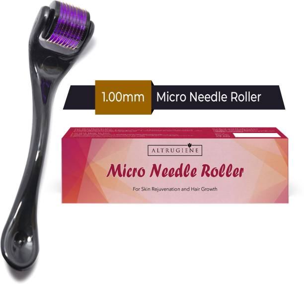 Altrugiene Micro Needles 1mm Derma Roller with 540 Titanium Needle For Men & Women For Skin Rejuvenation and Hair Growth