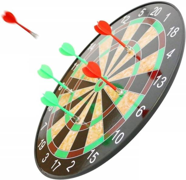 M-Alive Magnetic Dartboard Set 17 Inch Dart Board with 6 Magnet Darts for Kids and Adults Soft Tip Dart