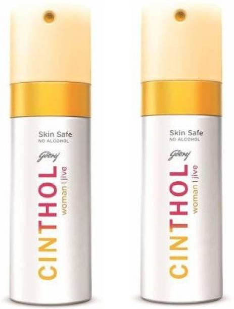 Cinthol JIVE Deodorant Spray - For Men (300 ml, Pack of 2) Deodorant Spray  -  For Women