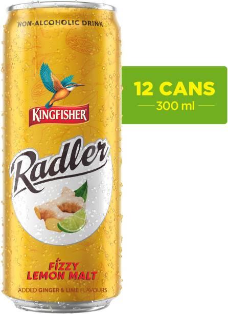 Kingfisher Radler Non Alcoholic Malt Drink -Ginger, 24 x 300 ml Can (24 x 0.3 L) Energy Drink