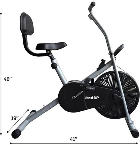 Pristyn care AB-90 BS Air Bike Exercise Fitness Cycle With Fixed Handles & Back Support Indoor Cycles Exercise Bike