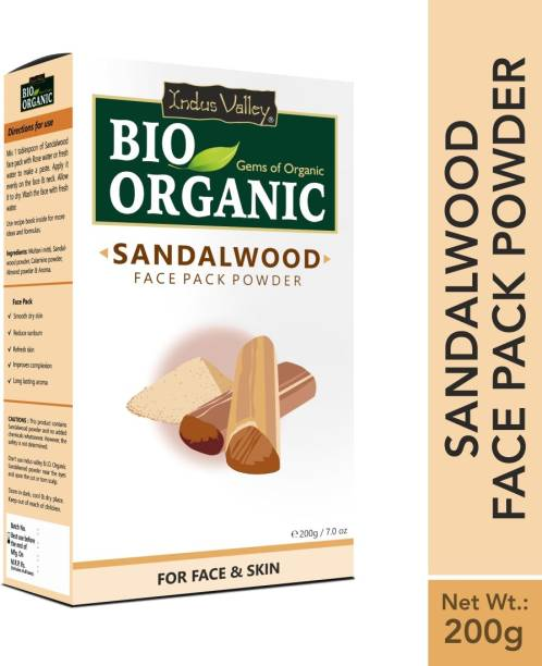 Indus Valley BIO Believe-in-Organic Sandalwood Face Pack Powder