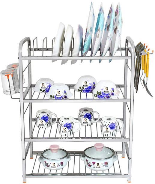 Reezle Kitchen Stand 24*18 inch Wall Mounted Utensil Kitchen Rack 4 Shelf Cutlery Kitchen Rack
