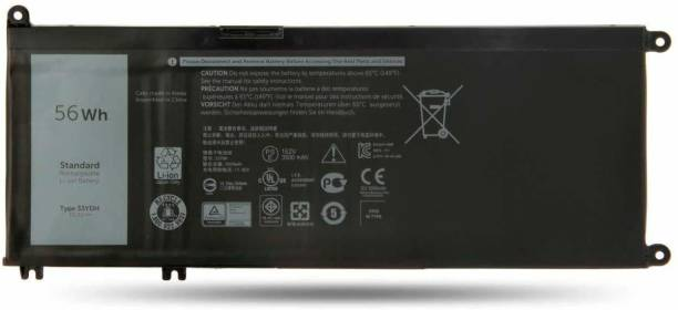 WISTAR 33YDH Laptop Battery Compatible for Dell Inspiron 15 7577 17 7000 7773 7778 7786 7779 2in1 G3 15 3579 G3 17 3779 G5 15 5587 G7 15 7588 Latitude 13 3380 14 3490 15 3590 3580 PVHT1 4 Cell Laptop Battery