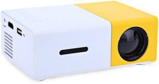 Heypex Mini Portable Led HD Projector For AV USB Micro SD Card USB (2300 lm) Portable Projector