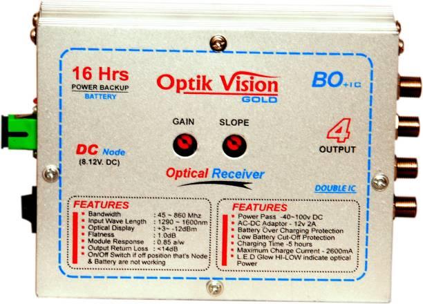 optik vision gold 16 Hour Battery Backup 4 Output DC Node For Cable TV Media Streaming Device