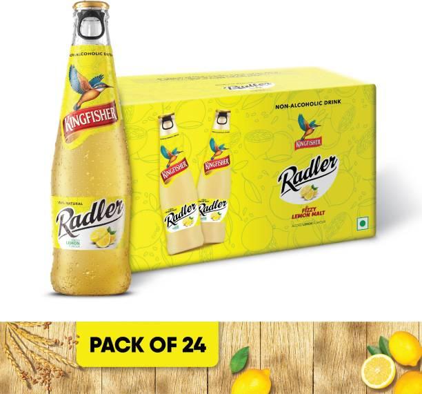 Kingfisher Radler Non Alcoholic Malt Drink Beer - Lemon Glass Bottle - Pack of 24 Glass Bottle