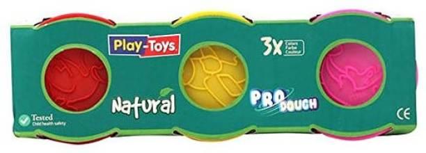 NODDY KINGDOM Multicolor Pro-Dough Natural Pack   Non-Toxic   3*100 gm