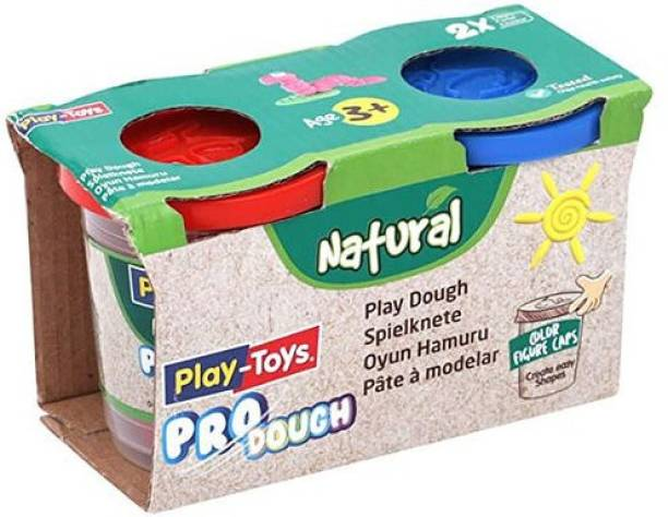 NODDY KINGDOM Multicolor Pro-Dough Natural Pack Clay for Kids   Non-Toxic   2*100gm