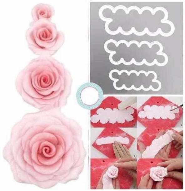 Unique shop 3D Rose Flower Ever Cutter Fondant Mold Cake Decorating Maker Mould Baking Tool Accessories Cookie Cutter
