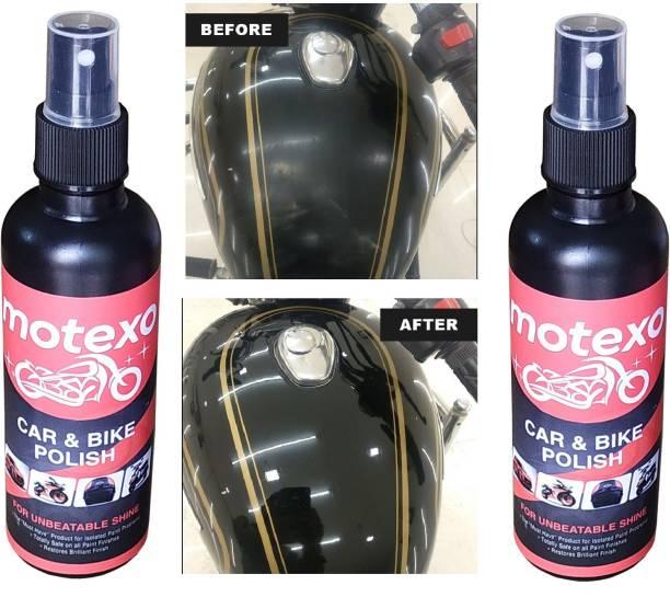 MOTEXO Liquid Car Polish for Chrome Accent, Bumper, Dashboard, Exterior, Headlight, Leather, Metal Parts