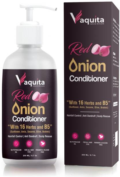 Vaquita 16 Herbs & Vitamin B5 Perfect Blend For Promotes Hair Growth/Hair Fall & Greying Control With Green Tea Champagne Fragrance Hair Conditioner