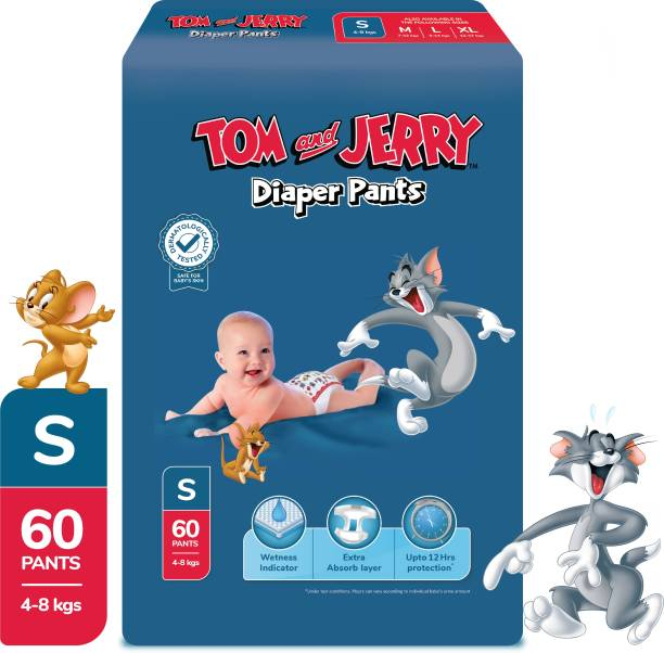 TOM & JERRY Diaper Pants with Wetness Indicator - S