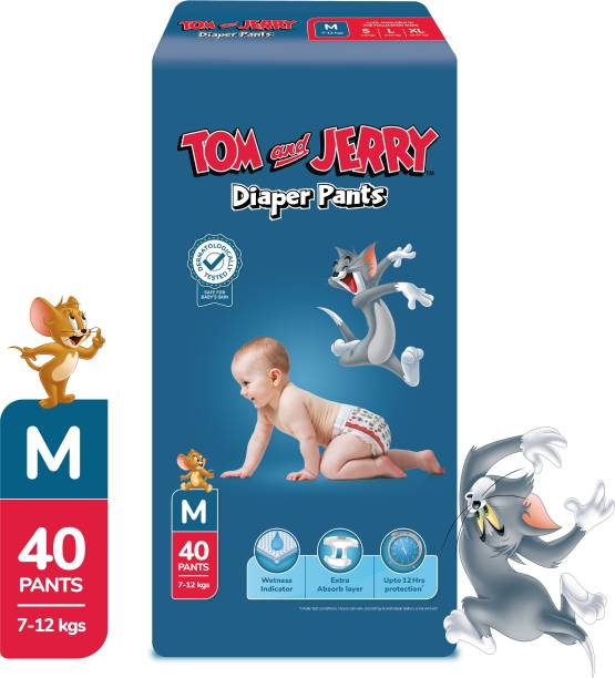 TOM & JERRY Diaper Pants with Wetness Indicator - M