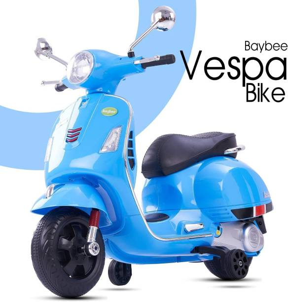 GoodLuck Baybee Vespa Rechargeable Battery Operated Ride-on Bike and Baby Ride on/Kids Ride on Toys -Kids Bike - Baby Bike for Kids to Drive Toys Car Suitable for Boys & Girls Age 2-5 Year Scooter Battery Operated Ride On