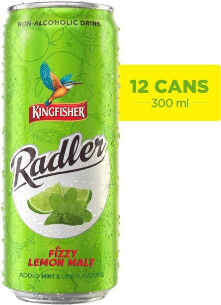 Kingfisher Radler Non Alcoholic Lime and Mint Energy Drink